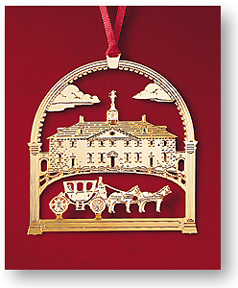 1991 West Front of Mount Vernon with the Powel Coach Ornament