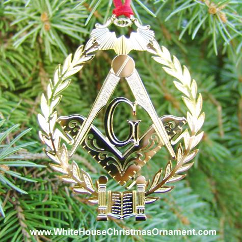 1994 Mount Vernon Three Great Lights of Masonry Ornament