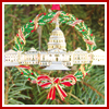 1995 U.S. Capitol Wreath Ornament
