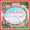 1997 Mount Vernon East Front Folk Art Ornament