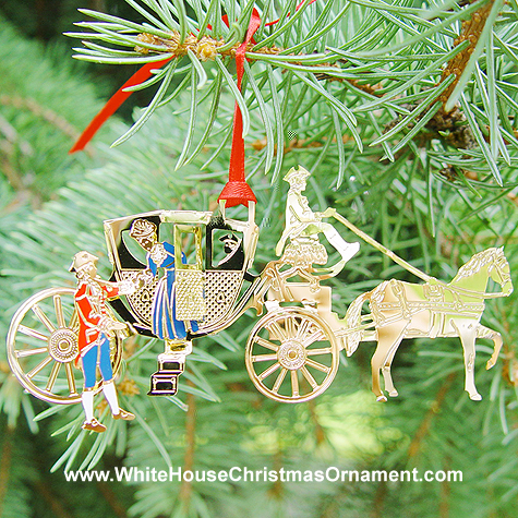 1998 Mount Vernon Powel Coach Ornament