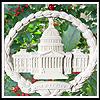 1998 Marble Capitol Wreath Ornament