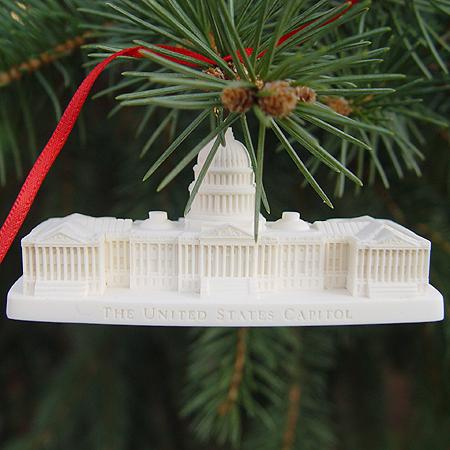 1999 3-D U.S. Capitol Marble Ornament & Desk Sculpture