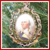 1999 Mount Vernon Porthole Portrait Ornament