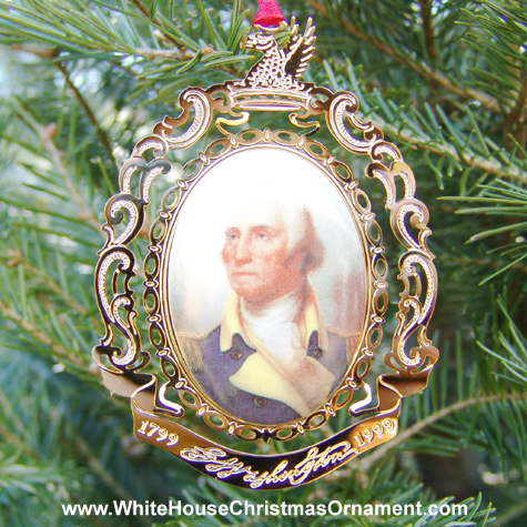 1999 Mount Vernon Porthole Portrait Ornament