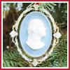 2000 Mount Vernon George Washington Houdon Bust Ornament