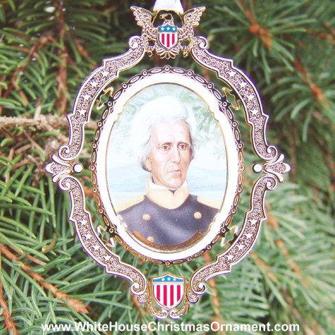 Purchase your The 2004 American President Collection Andrew Jackson Ornament online at whitehousechristmasornament.com -  Have a Merry Christmas and Happy Holidays