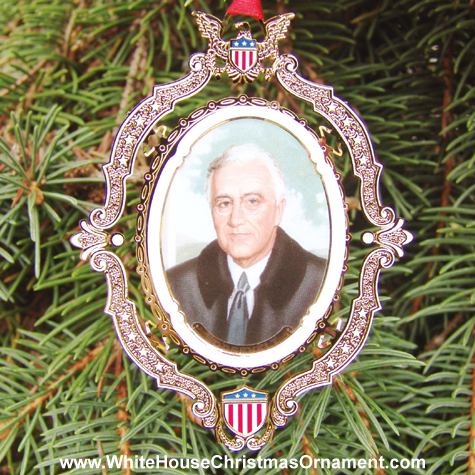 American President Collection Franklin D. Roosevelt Ornament