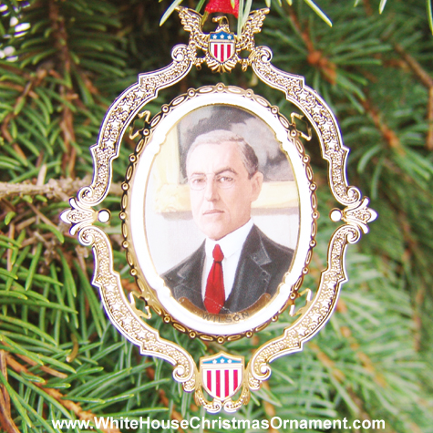 Purchase your 2004 American President Collection Woodrow Wilson Ornament online at whitehousechristmasornament.com -  Have a Merry Christmas and Happy Holidays