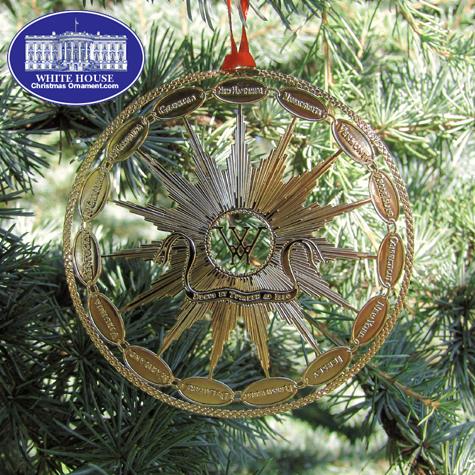 1990 Mount Vernon Martha Washington's States China Ornament