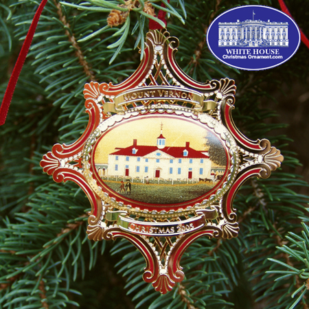 2005 Mount Vernon West Front circa 1792 Ornament