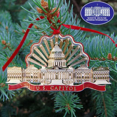 The U.S. Capitol Gold Finish Ornament