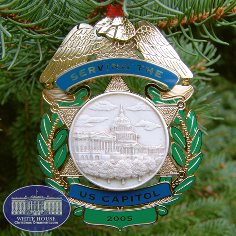 2005 capitol police force holiday ornament - Outdoor Police Christmas Decorations