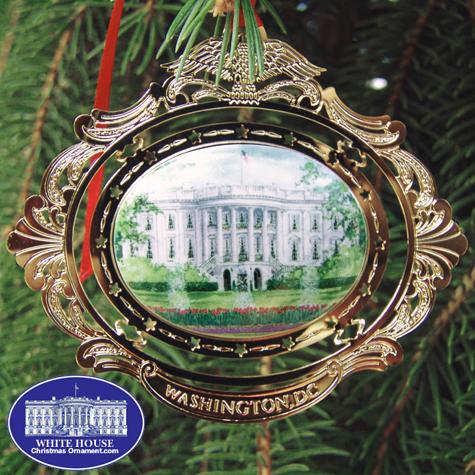 White House Cameo Ornament