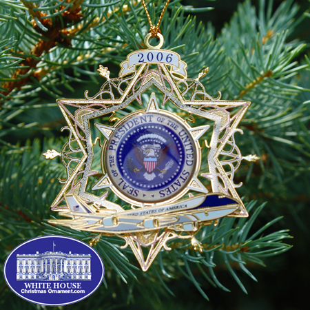 Christmas Ornaments on Air Force One  Ornament   Mail Order White House Christmas Ornaments