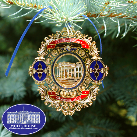 White House Christmas Ornament.2006 White House Chester A Arthur Ornament