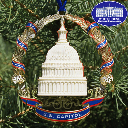 2007 US Capitol Marble Dome & Wreath Ornament