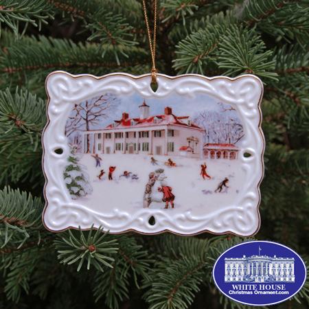 2007 Mount Vernon Winter Scene Ornament