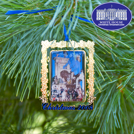 2008 Secret Service Bulk Ornament - The White House Crèche