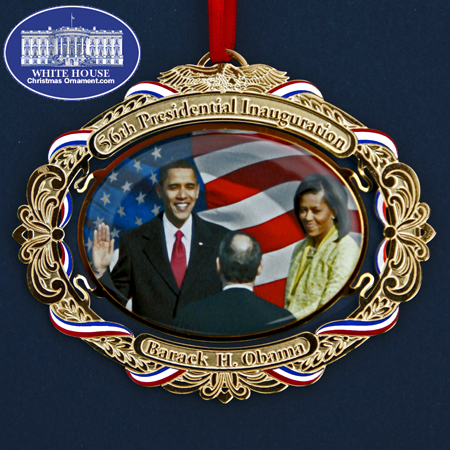 2009 Barack Obama 56th Presidential Inauguration Bulk Ornament