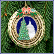 2010 US Capitol Oval Dome & Tree Ornament