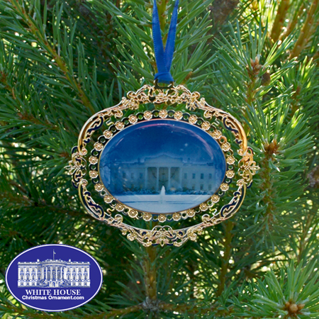 White House North Portico Ornament