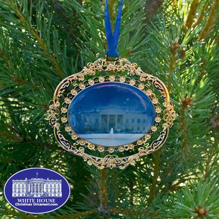 White House North Portico Bulk Ornament