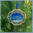 White House North Portico Bulk Ornament