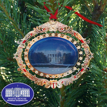 The White House South Portico Christmas Ornament