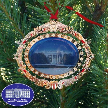 White House South Portico Ornament