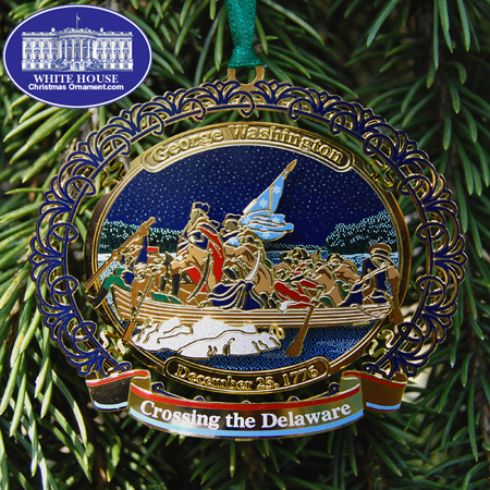 George Washington Crossing the Delaware River Ornament