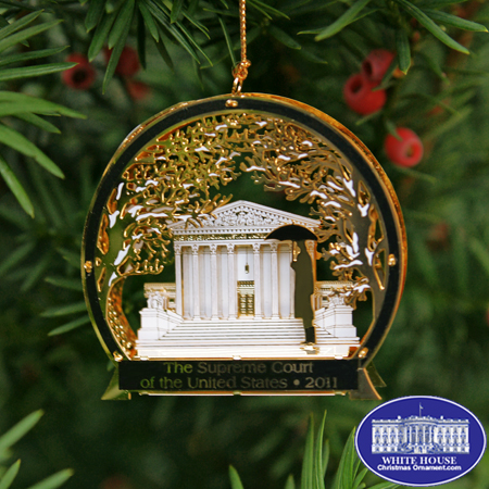 2011 U.S. Supreme Court Winter Scene Ornament