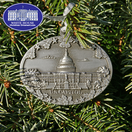 2011 U.S. Capitol West Front Pewter Ornament