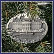 2011 White House South Portico Pewter Ornament