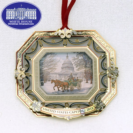 2012 U.S. Capitol Marble Carriage Ornament