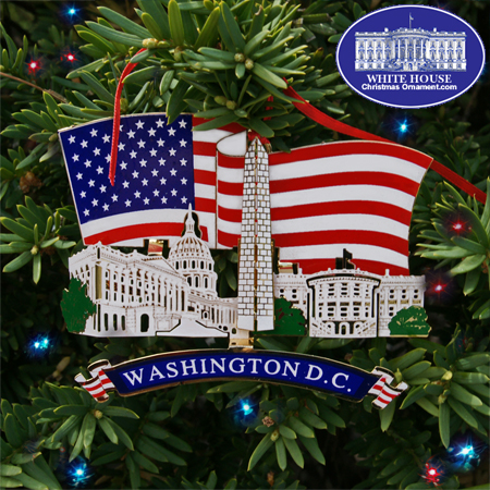 Washington DC Landmarks Ornament