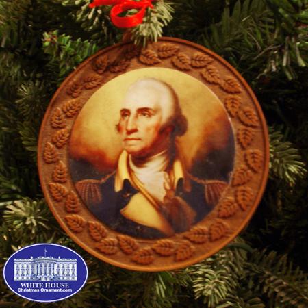 2012 George Washington Wood Ornament