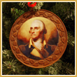 2012 George Washington Wood Ornament