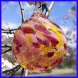 Cherry Blossom Glass Ornament