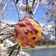 Cherry Blossom Glass Ornament