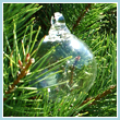 Clear Glass Ornament