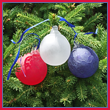 Red, White, and Blue Frosted Glass Ball Set