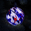 Patriotic Glass Fairy Ball Ornament