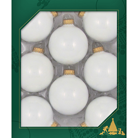 2 5/8 in Porcelain White Glass Ball Ornament Case