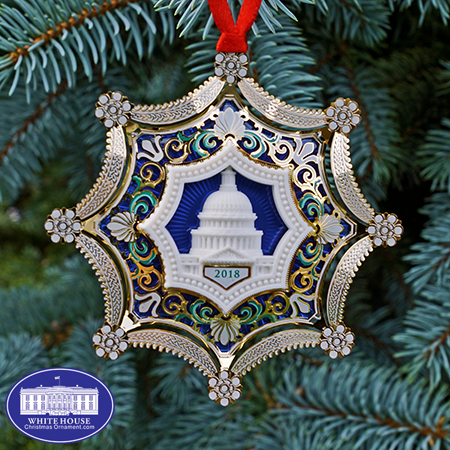 2018 Annual Marble US Capitol Ornament