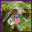 USA Bald Eagle Ornament