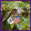 USA Bald Eagle Ornament