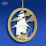 The US Flagship Niagara Ornament