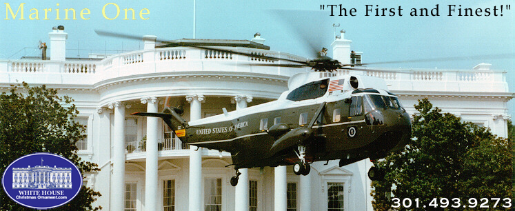White House Secret Service Marine One Ornament