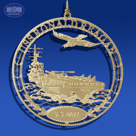 The USS Ronald Reagan Ornament